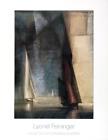 LYONEL FEININGER Stiller Tag am Meer Ill 35.5 x 27.5 Poster 1985 Expressionism G