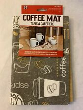 "S & T Inc. Coffee Mat - 12""X 18"" - Coffee and Cup Absorbent Mat New"