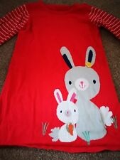 MOTHERCARE GIRLS RED RABBIT DRESS AGE 4-5 YEARS