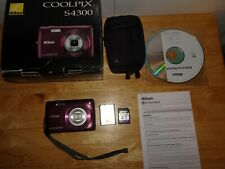 Nikon COOLPIX S4300 16.0MP Digital Camera - Plum