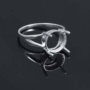 925 Silver Semi Mount 5-10 mm Round Setting Men Semi Mount Wedding Ring Polished