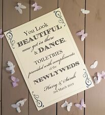 Personalised Toiletries sign wedding guests wedding sign A4 print