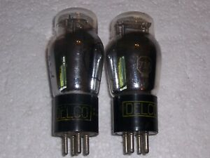 2 DELCO 71A RADIO VACUUM TUBES, TV-7 TESTED