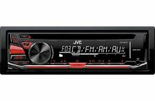 Jvc Kdr-370 Single Din In Dash Car Stereo Cd Mp3 Aux Player Radio Receiver