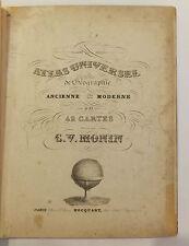 Monin Atlas universel illustré de 42 cartes maps XIXème siècle
