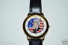 MINTY Vintage Funny Bill Clinton Growing Lying Pinocchio Nose Wristwatch WORKS