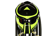 PRO Predator GLOSSY Black Green Open Face Motorcycle Helmet Custom Pro-Wolf