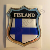 Finland country shield flag sticker vinyl decal