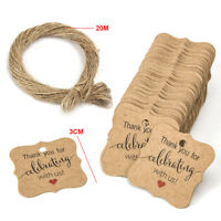 100Pc Wedding Favour Tags, Personalised, Small Thank You For Sharing Special Day