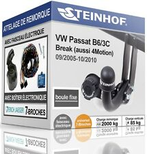 ATTELAGE fixe VW PASSAT B6 Break 2005-2010 + FAISC.UNIV.7-broches COMPLET