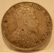 Straits Settlements 1905 Silver 50 Cents Nice XF - AU