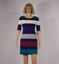 Jessica Simpson Size 4 Color Block Round Collar Elbow Sleeve Shift Dress NEW $98