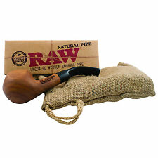 NEW RAW Rolling Papers Brand Natural Traditional Wooden Smoking Tobacco Pipe