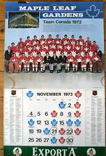 1973-74 Maple Leaf Gardens Calendar, 1972 Team Canada Photo, With Bobby Orr..