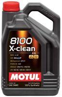 MOTUL OLIO 8100 X CLEAN  5W40 5L SINTETICO ACEA C3 API SM CF MB BMW VW MOTORE DI