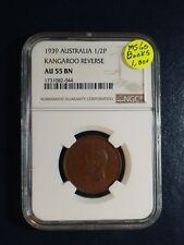 1939 AUSTRALIA HALF PENNY NGC AU55 BN 1/2P KANGAROO REV Coin PRICED TO SELL NOW!