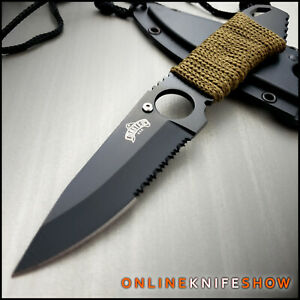 """7"""" NAVY SEAL SURVIVAL BOOT KNIFE w/ NECK SHEATH Hunting Camping Bowie Combat"""