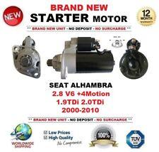 Per SEAT ALHAMBRA 2.8 V6 +4 Motion 1.9 2.0 TDI 2000-2010 Motore di Avviamento 11 DENTI
