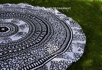 Indian Round Mandala Tapestry Wall Hanging Beach Throw Yoga Mat Boho Tapestries