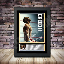 Creed 2 Alternative movie Framed Poster Autographed Print A1 A2 A3 A4 2018