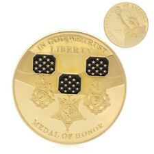 Gold Plated In God We Trust Medal of Honor Liberty Commemorative Challenge Coin