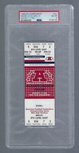 PSA 8 - 1998 NFL AFC CHAMPIONSHIP NEW YORK JETS @ DENVER BRONCOS FULL TICKET