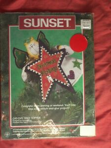 Sunset Kit Cat-chy Tree Topper Happy Cat Angel Sew Embroidery 9-1/2 inch