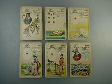 Französisches Wahrsagespiel handcoloriert um 1900 (57405)