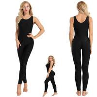 Women's One Piece Yoga Sport Gym Fitness Sleeveless Slim Suit Jumpsuit Bodysuit