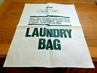 Grand Hotel Mackinac Island Paper Laundry Bag Souvenir New Green Print White Bag