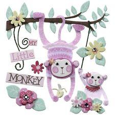 Baby Girl My Little Monkey Newborn Nursery Jolee's 3D Stickers