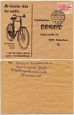 Envolvente de publicidad de Groenlandia ciclismo Egedesminde MATASELLOS Aasiaat 1972