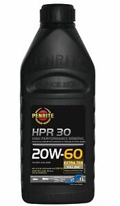 Penrite HPR 30 SAE 20W-60 Engine Oil 1L fits Citroen DS 1.9 (59kw), 1.9 (61kw...