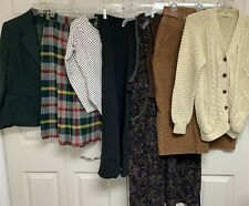 Vintage Ladies 7 pc Clothing Lot Blazer Sweater Dress Skirt Bodysuit +