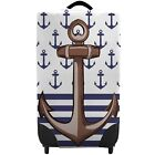 Anchor Striped Nautical Design Caseskinz SUITCASE Cover SUITCASE NOT INCLUDED