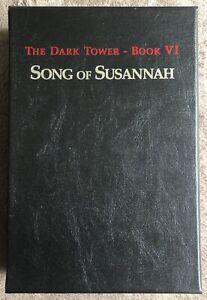 Stephen King Dark Tower VI Song Of Susannah Signed Artist Edtn SEALED SLIPCASED