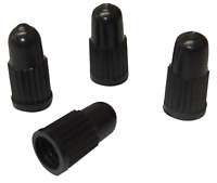 4 x Quality Black Plastic Presta Tyre Valve Dust Caps Bike Bicycle BMX MTB