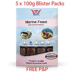 BCUK Frozen Fish Food- 5 x 100g Blister Packs-Marine Feast --FREE P&P