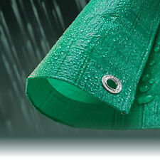 3.5M x 5.4M ECONOMY GREEN WATERPROOF TARPAULIN SHEET TARP COVER WITH EYELETS