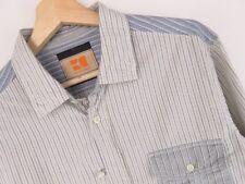 lu792 Hugo Boss Naranja Camisa top casual Vintage Tiras original premium talla L