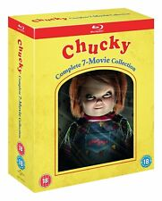 "CHUCKY 1-7 COMPLETE COLLECTION BOX SET 7 DISC BLU-RAY RB AUS ""NEW&SEALED"""