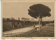 ANTIQUE ROME ITALY CAMPAGNA COUNTRYSIDE RUSTIC COUNTRY PATH FENCE ROAD PRINT