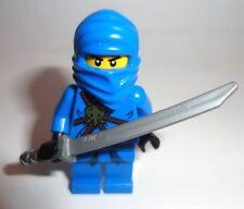 Lego Ninjago Original blue Jay minifigure with gray sword weapon  new
