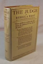 Rebecca West THE JUDGE First U.S. Edition Fine in dj Her RARE Second Novel