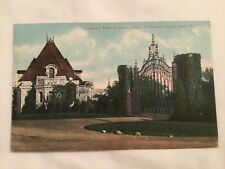 postcard - ESTATE OF SENATOR NELSON ALDRICH, WARWICK NECK, RI 1909
