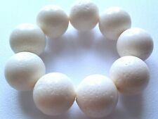 STUNNING 100% NATURAL WHITE SPONGE CORAL ELASTICATED BRACELET. HUGE BEADS!