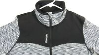 Reebok Speedwick Womens Sweater 1/4 Zip pullover Jacket Active Top Black Size M