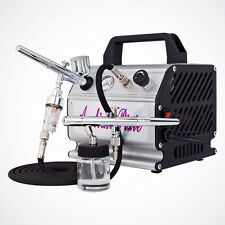 Pro 2x Airbrush Kit Dual-Action Gun Hobby Paint Model T-Shirt Tattoo Nail Cake
