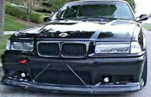 BMW E36 3-series Headlight Trims Covers Eyebrows Eyelids 1990 &up ABS plastic M3