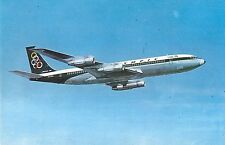 Olympic Airways Boeing 707-320 in Flight Vintage Postcard (J31871)